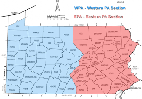 Small Map of PA Counties